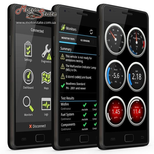 Фото ScanTool OBDLink LX Bluetooth 3.0. OBD адаптер диагностики с Android, Windows - motorstate.com.ua